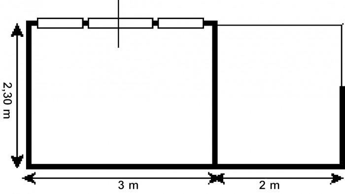 Tuinhuis 3 x 2.3 meter (Hondenkennel 2 x 2.3 meter) Bonte Specht.jpg
