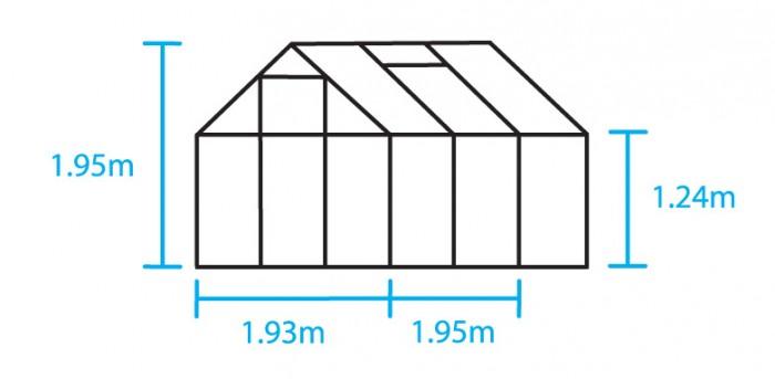 Hobbykas POPULAR 66 Blank aluminium (Tuinkas met tuindersglas) 3.jpg
