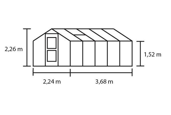 Hobbykas COMPACT 82, blank aluminium (Tuinkas met tuindersglas) 18.jpg