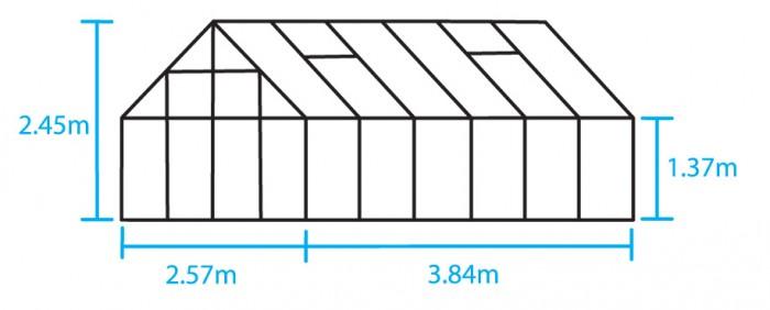 Hobbykas MAGNUM 128 blank aluminium (Tuinkas met tuindersglas) 4.jpg