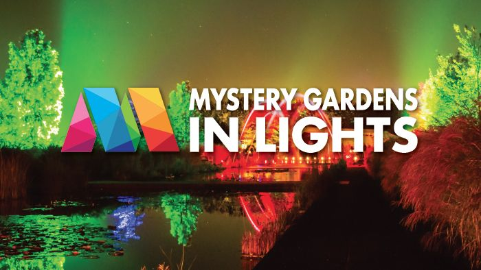 Mystery Gardens in Lights