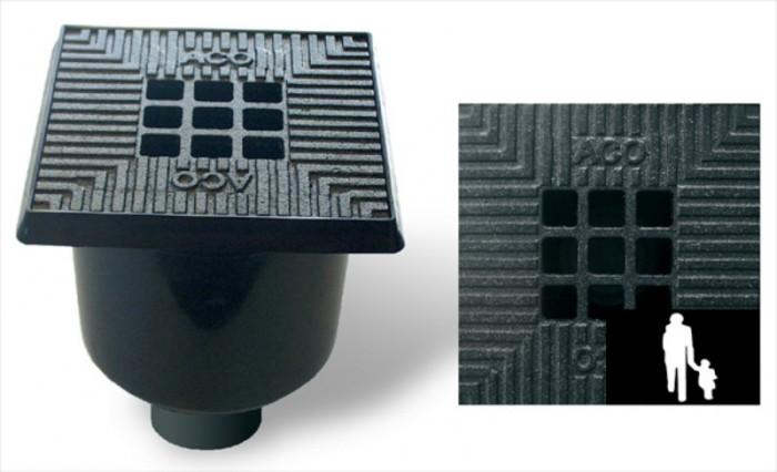 Vloerput  schrobput 20 x 20 cm kunststof rand + gietijzeren rooster (Easygarden, ACO artikel 03532).jpg