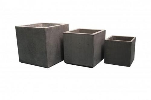 Betonnen bloembak 40x40x40 cm licht antraciet (bloembakken van beton artikelnummer 20140A.jpg