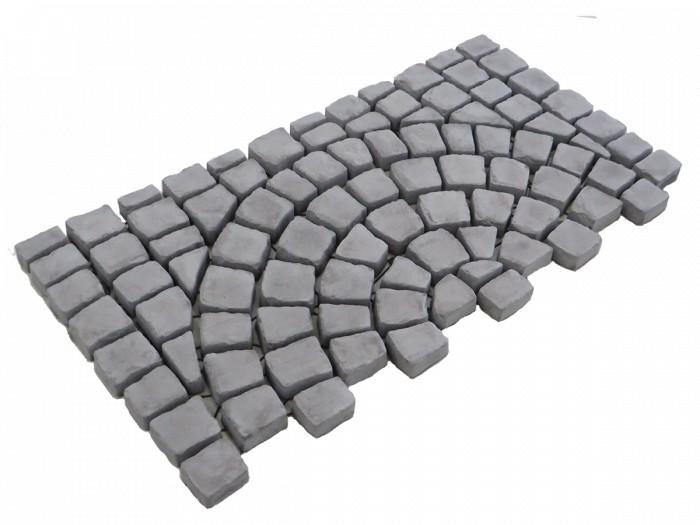 Carpet stones type E44 Antraciet (Cirkelverband, per stuk).png