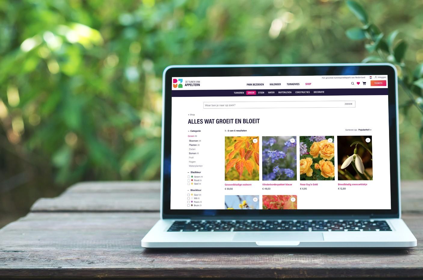 Deelname aan webshop - De Tuinen van Appeltern