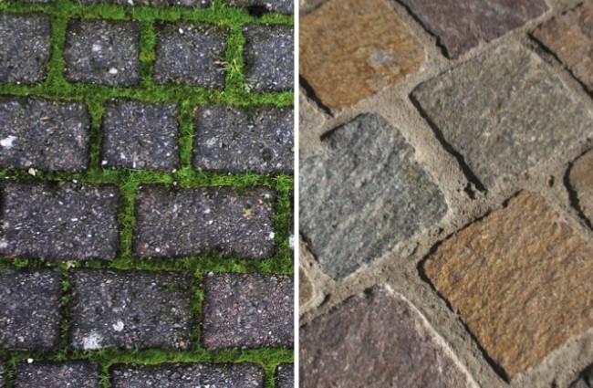 Voegen tussen stenen en tegels