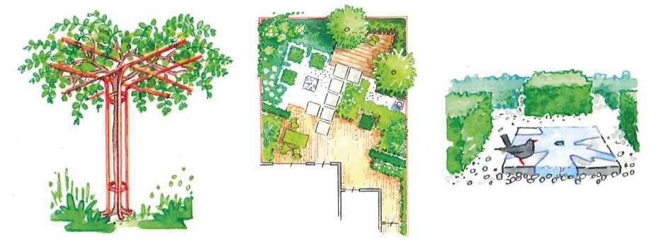 Strak en zakelijk tuinonwerp