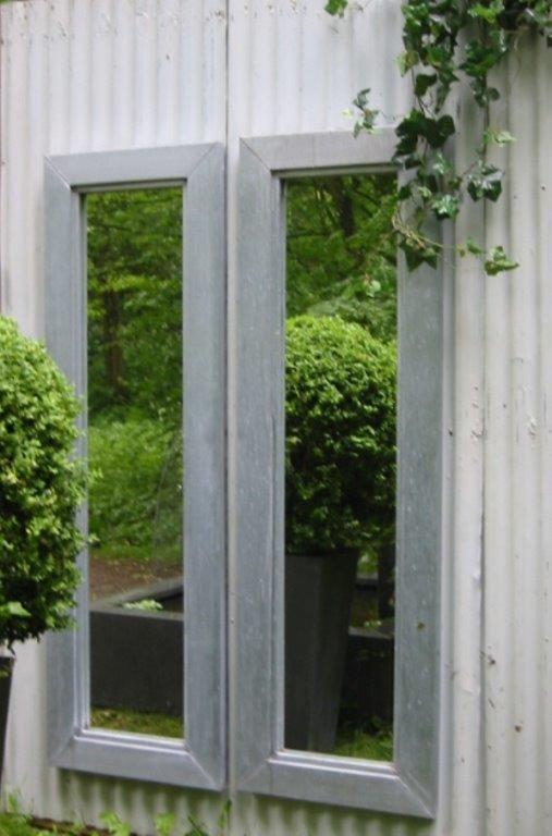 Tuinspiegel zink afmeting 160 x 50 cm met lijst van 8 cm in buitenkwaliteit.jpg
